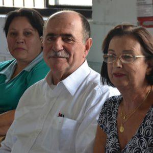 Caramez ao lado de sua esposa Dalvani (dir.) e da prefeita Eliana (esq.) Deputado Caramez se filia ao PSB Deputado Caramez se filia ao PSB 3