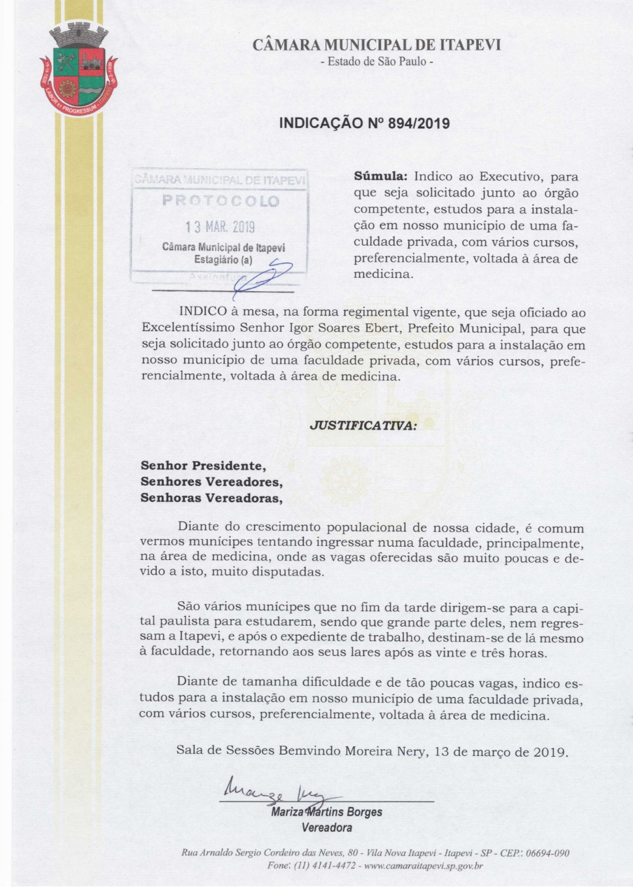 59ebb510-93b9-4bcd-971c-22ff9179bfc8  VEREADORA MARIZA - INDICAÇÃO Nº 894/2019 59ebb510 93b9 4bcd 971c 22ff9179bfc8