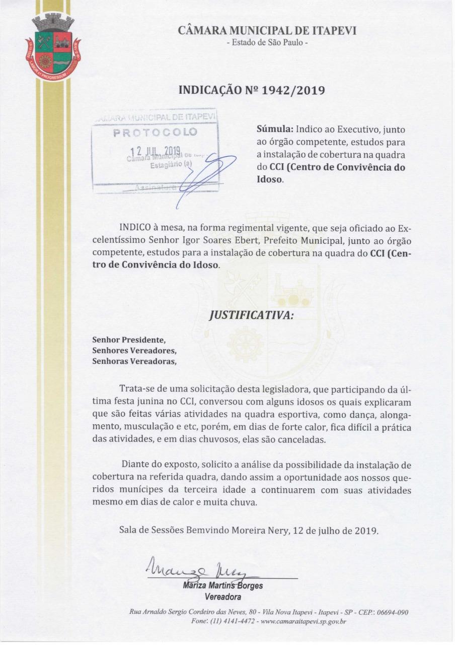 a541b171-9ff4-47eb-a163-244d79d3d43e  Vereadora Mariza – Indicação Nº 1942/2019 a541b171 9ff4 47eb a163 244d79d3d43e