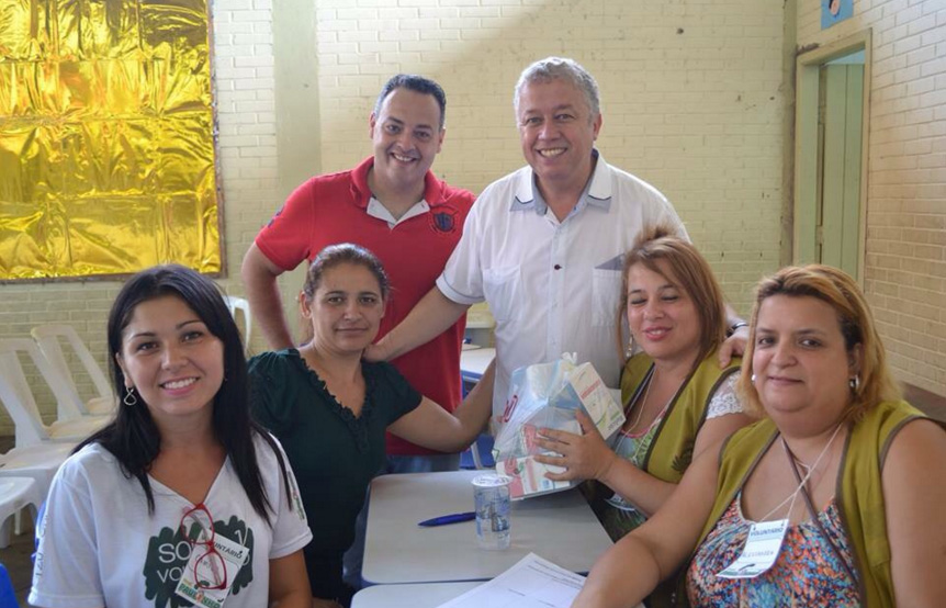Vereador Prof. Paulinho e Rede de Amigos no evento Tzu Chi em Itapevi
