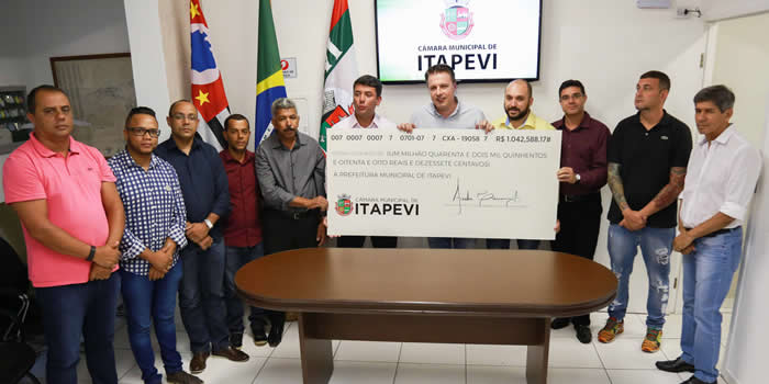 Câmara Municipal devolve mais de R$ 1 milhão à Prefeitura
