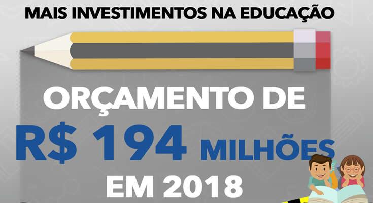 Gastos da Prefeitura em educação devem crescer 9,3% em 2018