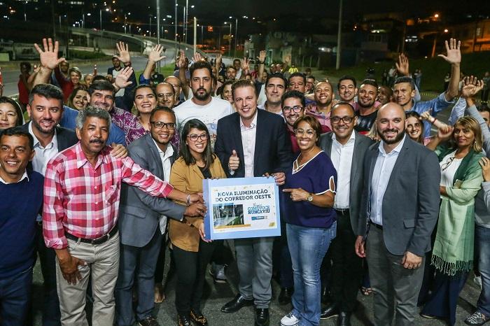 Igor Soares inaugura nova iluminação a LED do Corredor Oeste