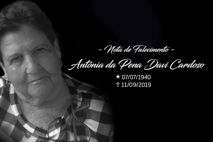 NOTA DE FALECIMENTO – ANTÔNIA DA PENHA DAVI CARDOSO