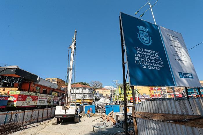 Nova passarela da CPTM começa a ser construída no Centro