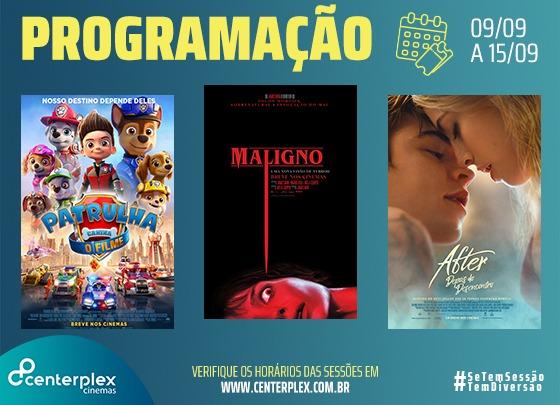 CENTERPLEX CINEMAS | DIVULGAÇÕES DA SEMANA – 02 A 08/09/2021