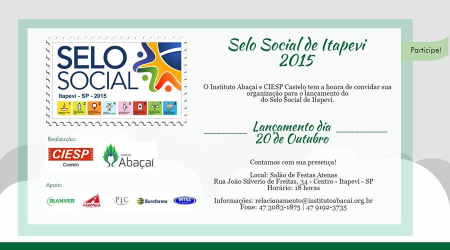 Itapevi recebe apresentação oficial do Projeto Selo Social dia 20