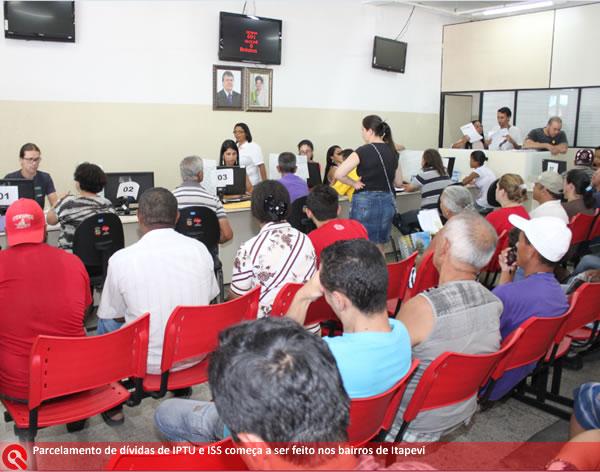 Inicia em Itapevi parcelamento de dívidas de IPTU e ISS