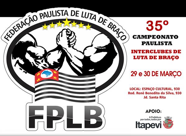 35º Campeonato Paulista de Luta de Braço será em Itapevi.