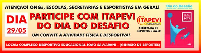 29 de maio será o Dia do Desafio em Itapevi