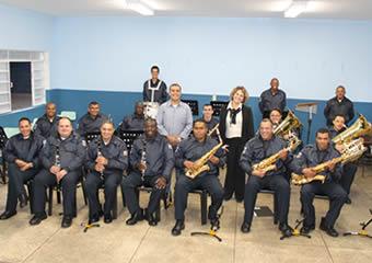 Banda Musical da GM de Itapevi recebe instrumentos
