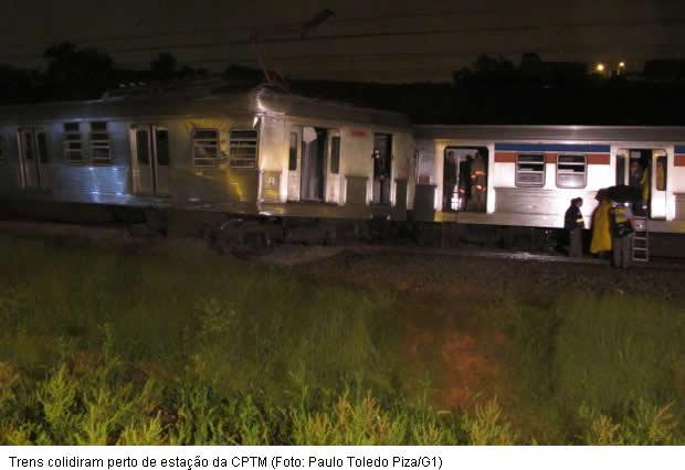 Trens da Linha 8 CPTM colidem em Itapevi